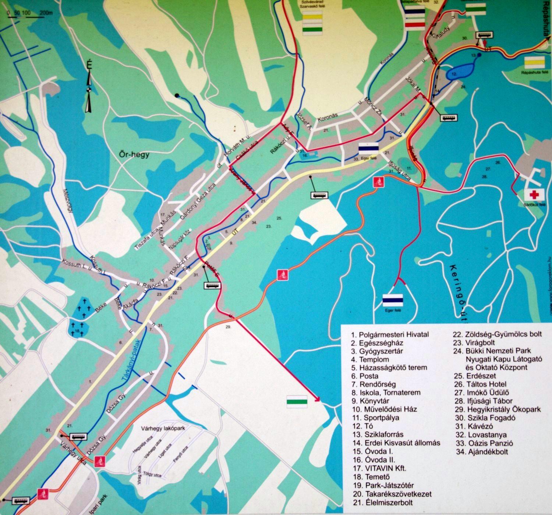 Felsőtárkány információs térkép