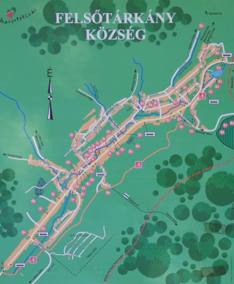Felsőtárkány térkép